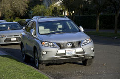 Lexus SUV. A Lexus SUV was parked in Queen Anne Hill, old neighborhood of Seattle. SUV is very popular in Seattle since it has hills all over the city Royalty Free Stock Photos
