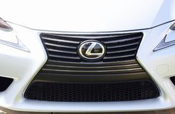 Lexus Trademark Logo. Lexus is the high-end luxury vehicle division of Japanese car maker Toyota Stock Photos