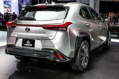 Lexus UX 200. NEW YORK CITY-MARCH 28: Lexus UX 200 shown at the New York International Auto Show 2018, at the Jacob Javits Center. This was Press Preview Day One Royalty Free Stock Photos