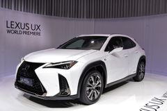 88th Geneva International Motor Show 2018 - Lexus UX royalty free stock image