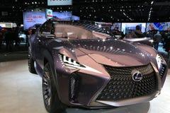 Lexus Vehicles 2018 novo na exposição na feira automóvel internacional norte-americana Fotografia de Stock