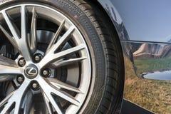 Lexus wheel closeup Royalty Free Stock Image