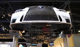 Lexus 2015. White Lexus 2015 in auto show miami beach, botton view Royalty Free Stock Photo
