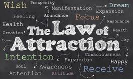 Ley de la atracción stock de ilustración