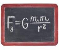 Ley de la gravedad de Newton Fotos de archivo libres de regalías