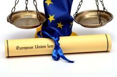 Ley de la unión europea Fotos de archivo libres de regalías