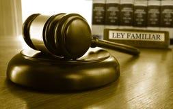 Ley Familiar gavel Royalty Free Stock Image