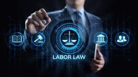 Ley laboral, abogado, abogado en la ley, concepto del negocio del asesoramiento jurídico en la pantalla fotos de archivo