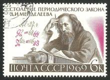 Ley periódica de Mendeleev de elementos imagen de archivo libre de regalías