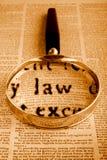 Ley y constitución Foto de archivo