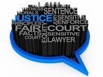Ley y justicia ilustración del vector