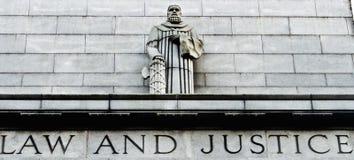 Ley y justicia fotografía de archivo libre de regalías