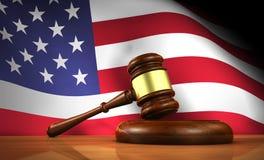 Ley y justicia americanas Concept Foto de archivo libre de regalías