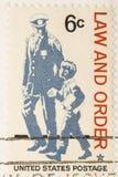 Ley y orden del sello de la vendimia 1968 Fotos de archivo