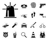 Ley y orden Iconset - iconos stock de ilustración