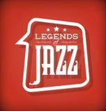 Leyendas del jazz stock de ilustración