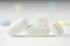 Leyes Obamacare del discusión de la reforma de la atención sanitaria Foto de archivo