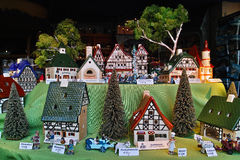 Leyk miniature village window display Royalty Free Stock Image