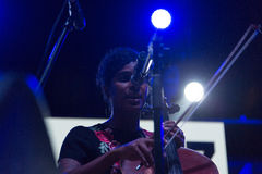 Leyla McCalla, Haiti/USA Immagini Stock Libere da Diritti