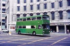 Leyland Atlantean公共汽车在利物浦, 1970年 免版税图库摄影