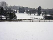 Leyland golfcourse. Winter snowfall on Leyland Golfcourse, Leyland, lancashire, UK stock photography