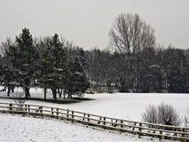 Leyland golfcourse. Winter snowfall on Leyland Golfcourse, Leyland, lancashire, UK stock photos