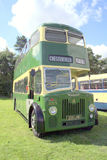 1959 Leyland P.D.2 double decker bus. A Chesterfield Corporation 1959 Leyland P.D.2 double decker bus on display at the Cromford Steam Rally, Tansley, Matlock Royalty Free Stock Images