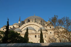 Leymaniye Moskee SÃ ¼ met bomen in Istanboel, Turkije Stock Fotografie