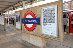 Leytonstone Tube Station Royalty Free Stock Photos