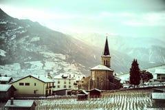 Leytron-Kirchenansicht Lizenzfreies Stockbild