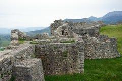 Ruins of wall. LEZHE, ALBANIA - CIRCA MAY 2019 Ruins of wall in old fortress stock images