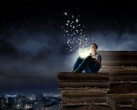 Lezing en verbeelding Stock Afbeeldingen