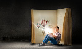 Lezing en verbeelding Stock Foto's
