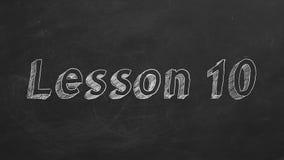 Lezione 10 illustrazione vettoriale
