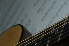 Lezione della chitarra Immagini Stock