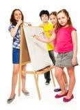Lezione della pittura Fotografie Stock