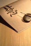 Lezione di calligrafia Fotografia Stock Libera da Diritti