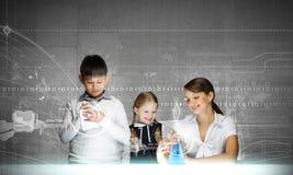 Lezione di chimica Immagini Stock