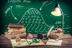 Lezione di geografia alla scuola Fotografia Stock Libera da Diritti