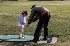 Lezione di golf Immagini Stock Libere da Diritti