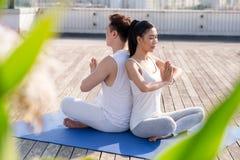 Lezione di yoga immagini stock