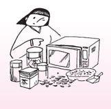 Lezione privata del forno a microonde Fotografie Stock