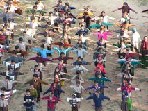 Lezione relativa alla ginnastica Immagine Stock Libera da Diritti