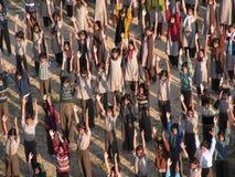 Lezione relativa alla ginnastica Immagini Stock Libere da Diritti