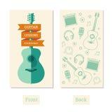 Lezioni della chitarra Immagine Stock