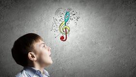 Lezioni di canto Immagine Stock