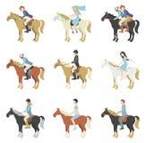 Lezioni di equitazione illustrazione di stock