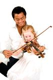 Lezioni di violino Immagine Stock Libera da Diritti