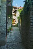 Lezzeno back street. By como lake in Italy Stock Images