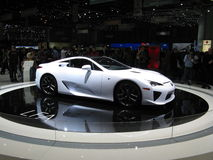LFA. Lexus' high performance high tech GT LFA from the 2010 Geneva Autoexpo Stock Photo